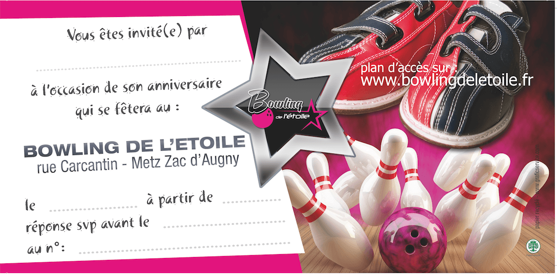 anniversaire bowling star